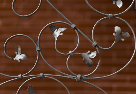 decorative wrought iron grille photo