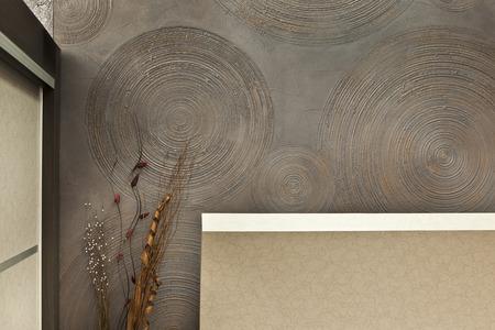 内壁の装飾的なプラスターの詳細 写真素材