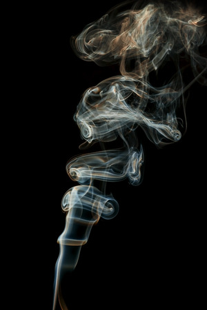 color abstract smoke isolated black background photo