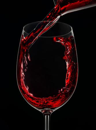 赤ワインを注ぎビーカー