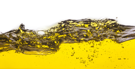 viscosity: An abstract image of spilled oil . On a white background.