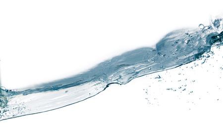 viscosity: Water splash isolated on white  Close up of splash of water forming flower shape