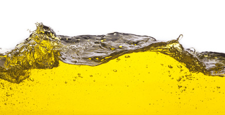 splashed: An abstract image of spilled oil   On a white background