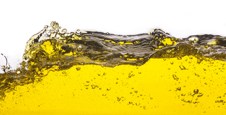 An abstract image of spilled oil   On a white background