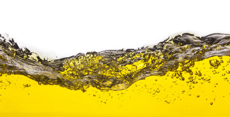 viscosity: An abstract image of spilled oil   On a white background