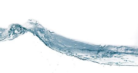 viscosity: Water splash isolated on white  Close up of splash of water forming flower shape, isolated on white background