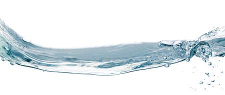 Water splash isolated on white  Close up of splash of water forming flower shape, isolated on white background