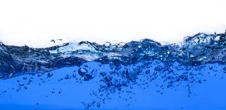 白い背景上に分離されて純粋な水の波 写真素材