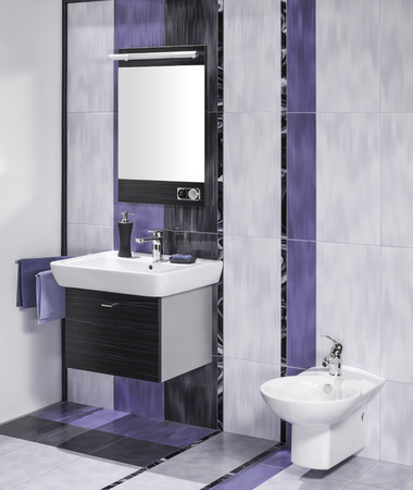 miror: detail of an elegant bathroom interior with miror and sink with accessories