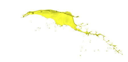 splendid: splendid yellow paint splash isolated on white background