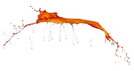 peinture rouge: belles �claboussures de peinture rouge isol� sur fond blanc