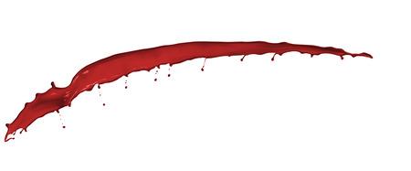 peinture rouge: beautiful splashes of red paint isolated on white background