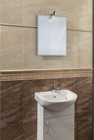 friso: hermoso baño con friso del alivio