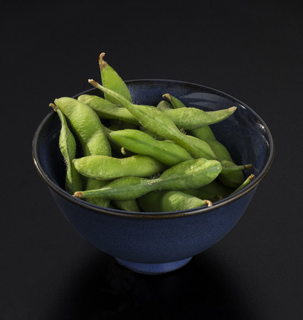 ejotes: Salad in Japanese style of parboiled green beans Foto de archivo