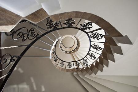 Upside Ansicht einer Wendeltreppe