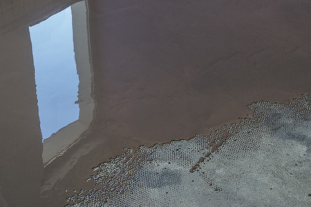 bracket: Floor covering with self leveling plaster. Mirror smooth surface of the floor