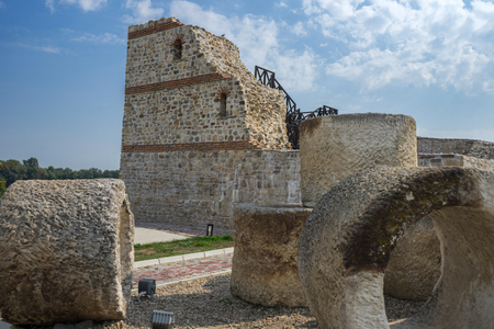 stone fortress tower from military castle Dimum, Bulgaria