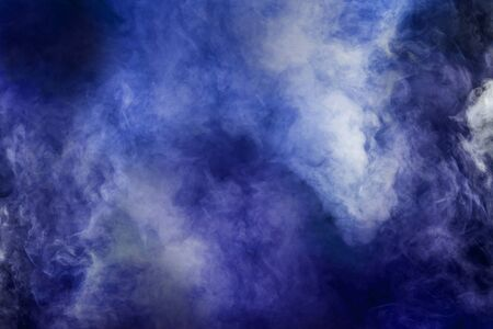 abstract white smoke isolated colorful blue and purple background