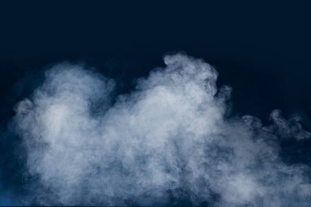 spectacular abstract white smoke isolated colorful blue background