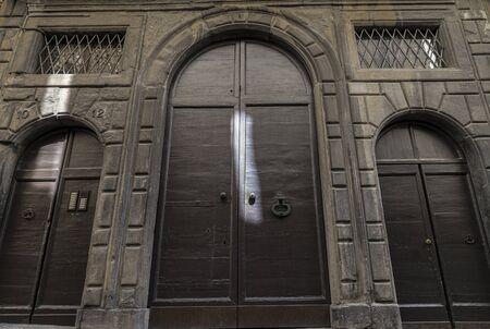Big old doors to a church