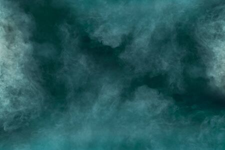 spectacular abstract white smoke isolated color green background