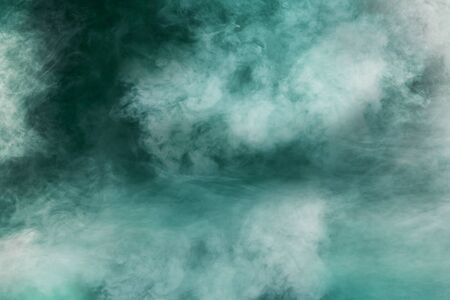 spectacular abstract white smoke isolated colorful green background