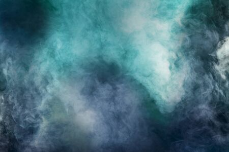 abstract white smoke isolated colorful blue and green background