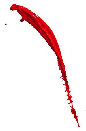 splendid red paint splash isolated on white background
