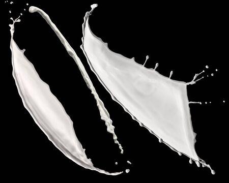 splendid white paint splash isolated on black background 版權商用圖片