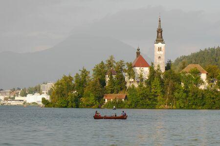 bled: lake bled slovenia