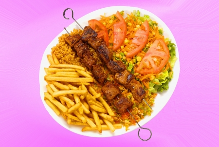 turkish kebab: Lamb kebab plate