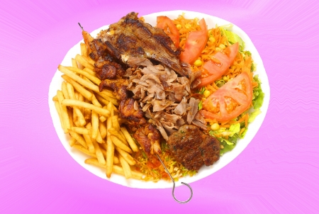 pimenton: alb�ndiga mixted plato de cordero