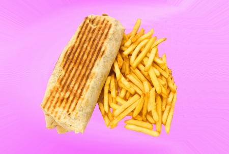 pita kebab sandwich Stock Photo - 15529303