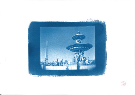 Concorde in Cyanotype