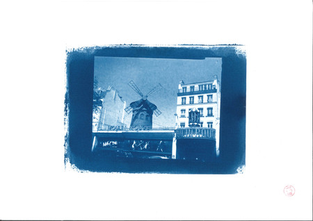The red mill in cyanotype Publikacyjne