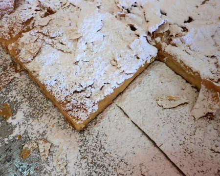Bugatsa is a traditional Greek sweet cream pie