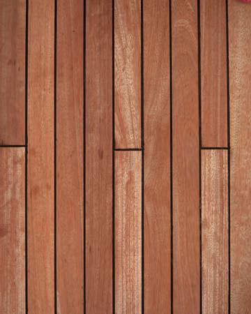 自然なチークの木製のデッキの背景