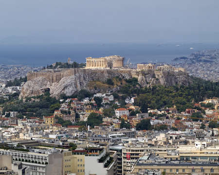 north view of Parthenon Acropolis Athens Greece photo