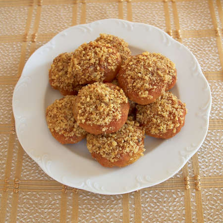 melomakarona, greek Christmas honey and nuts cookies  photo