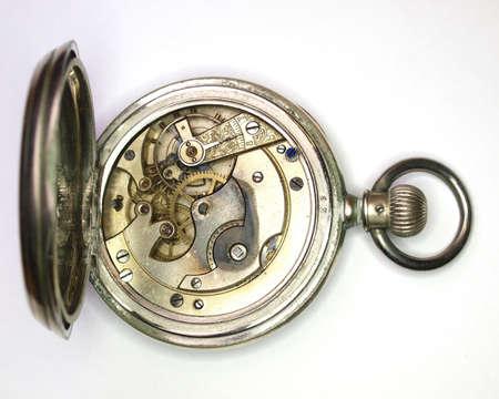 古いヴィンテージ時計のメカニズムのクローズ アップ