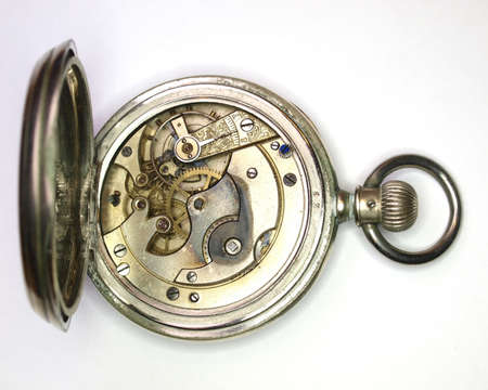 old vintage watch mechanism closeup photo