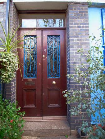 notting: puerta colorido, Notting Hill, Londres Foto de archivo