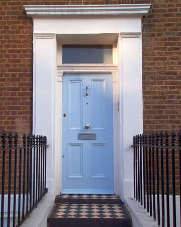 colorful door, Notting hill, London photo