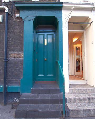 notting hill: ingresso colorito, Notting Hill, Londra Archivio Fotografico