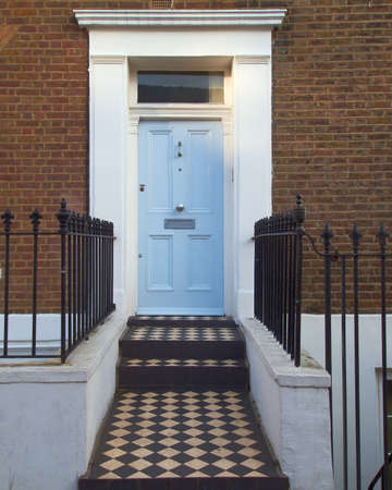 notting hill: colorful door, Notting hill, London Stock Photo