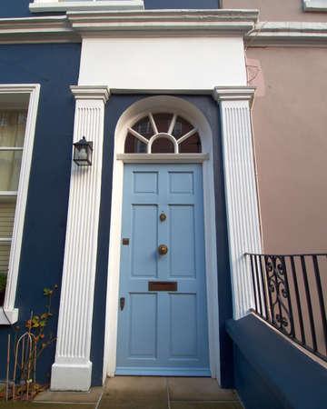 notting hill: porta colorata, Notting Hill, Londra Archivio Fotografico