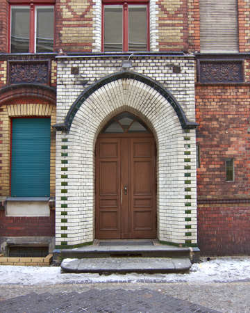 Old house arch door, Berlin, Germany                                 photo