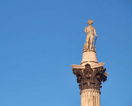 Nelson s column in Trafalgar square, London, space for typing photo