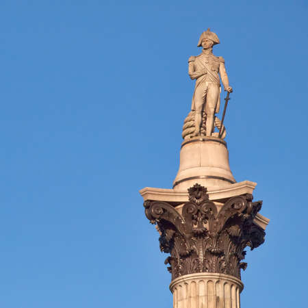 admiral: Nelson s column in Trafalgar square, London, space for typing