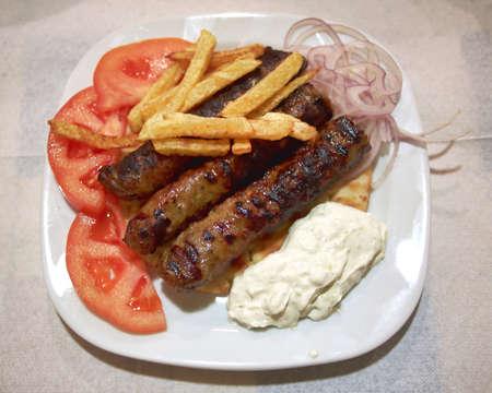tzatziki: kebab en tzatziki plaat